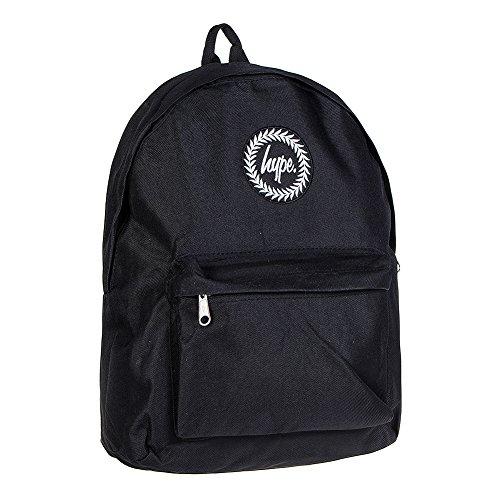 Just Hype Hype bag (Plain Backpack) - Bolso al hombro de Poliéster para hombre negro Negro Liso talla única