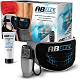 Ab Flex Ab Toning Belt for Slender Toned Stomach Muscles - No Replacement Pads Ever - Handy Remote for Quick and Easy Adjustments - 99 Intensity Levels and 10 Programmes for Fast Results - Lifetime Replacement Guarantee!