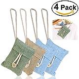 NUOLUX Air naturel purifiant refraîchissant d'Air sac à charbon de bambou (4packs * 100g)