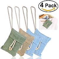 NUOLUX 4 confezioni da 100g di bambù carbone di purificazione naturale di aria sacchetto deodorante (colore casuale)