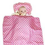 Pink Color Baby Duvet with Pillow