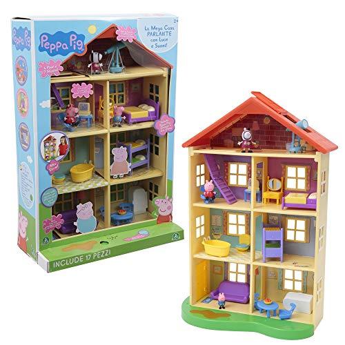 Giochi preziosi peppa pig mega casa c 3 pers 113, multicolore, 8056379064251