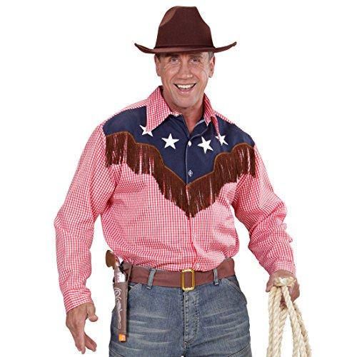 Amakando Country Cowboyhemd - XL (54) - Westernkleidung Herren Westernkostüm Cowboy Hemd Wilder Westen Wild West Outfits Rodeo Westernhemd