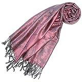 LORENZO CANA Designer Pashmina hochwertiger Marken Schal floral gewebtes Blumen