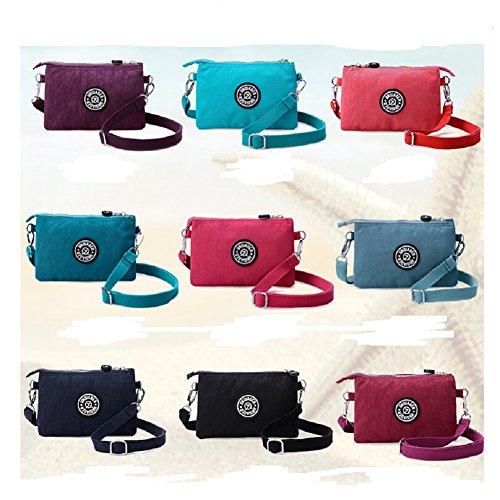 lifewheel classique imperméable Petit sac sac à main portefeuille sac en nylon Lavage Zero Téléphone portable, Rouge pastèque (Rouge) - LFWL2016030903 Gris