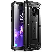 Samsung Galaxy S9 Hülle, SUPCASE [Unicorn Beetle PRO] 360 Grad Handyhülle Robuste Schutzhülle Outdoor Case Sturzfest Cover mit integriertem Displayschutz und Gürteltasche für Galaxy S9 2018, Schwarz