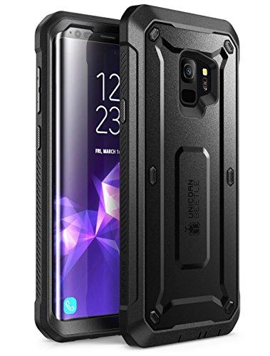 SUPCASE Samsung Galaxy S9 Hülle [Unicorn Beetle PRO] 360 Grad Handyhülle Outdoor Case Robust Schutzhülle Cover mit integriertem Bildschirmschutz & Gürtelclip für Galaxy S9 2018, Schwarz