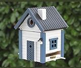 Wildlife Garden Nistkasten und Futterhaus Multiholk Seeschuppen blau - weiß