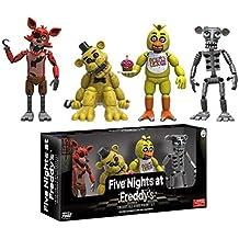 Funko Vinyl Figure Set: Five Nights At Freddy's - Set One w/ Chica / Foxy / Golden Freddy / Animatronic Skeleton NEW