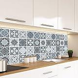 """Alwayspon Azulejos de Vinilo Suelo Sticker, Impermeable Antideslizante Azulejos de la Etiqueta para la Cocina Y Baño 23.6X47.2"""" /, PC 1 Mediterranean 60x120cm (Mediterranean, 60x120cm)"""