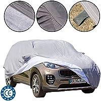 Cubierta para coche para SUV, impermeable, ajuste universal, a prueba de polvo y UV, forro interior de algodón, durable, dimensiones (480*193*155 cm) L