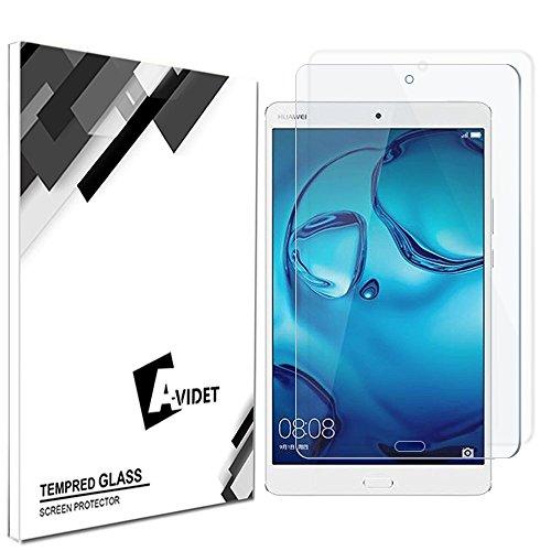 Huawei MediaPad M3 8.4 Schutzfolie, AVIDET Gehärtetem Glas Displayschutzfolie Screen Protector für Huawei MediaPad M3 8.4 - 9H Hardness aus gehärtetem Glas
