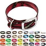 LENNIE BioThane Halsband, Dornschnalle, 25 mm breit, Größe 32-40 cm, Pink-Camouflage