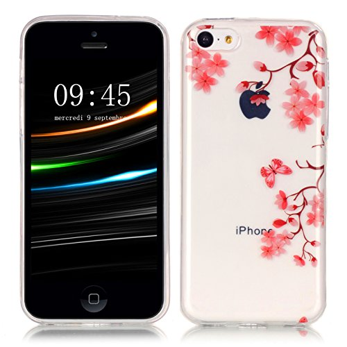 HLZDH Coque Transparente pour iPhone 5C Housse Souple de Protection Etui TPU Silicone Soft Case Cas Mode Youth Sunshine Coque Flexible Ultra Mince Housse Poids Léger Etui Anti Rayure Anti Choc Couvert image-4