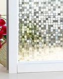 DUOFIRE 3D Fensterfolie Dekorfolie Sichtschutzfolie Ohne Kleber Selbstklebend Glas Fenster Folie Anti-UV (60cm X 200cm, DL014)