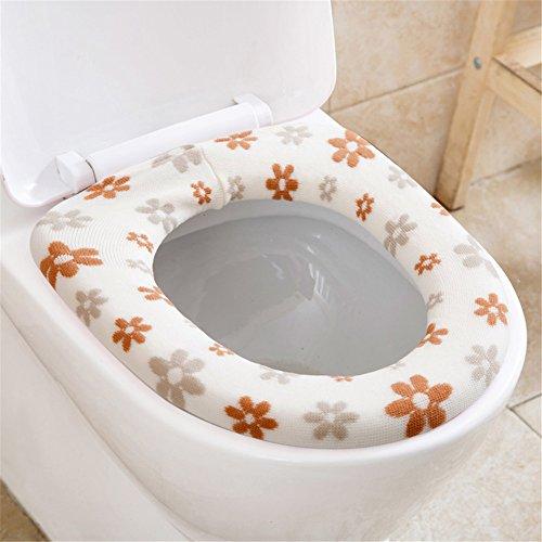 Affe Winter Waschbarer Badwärmer WC Sitzbezug Verdickung Toilettenmatte (Weiß)