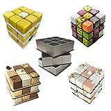 UPKOCH 1 Set Stampi per Mousse Anelli per Dolci Coppapasta per Torte in Acciaio Inossidabile Forma del Cubo di Rubik Torta Strumento per Fai-da-Te Cucina