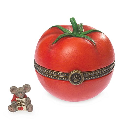 Boyds Bears Gardening Bearstone–cherry' S Tomato Treasure Box with Big Boy Mcnibble by Enesco