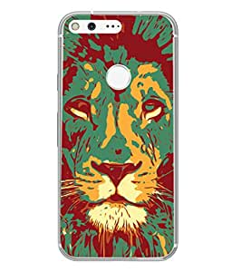 PrintVisa Designer Back Case Cover for Google Pixel (Design Art Zoom Texture Wildlife Creative)