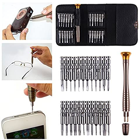 Caxmtu 25en 1tournevis Outil de réparation de téléphone portable téléphone portable PC pour ordinateur portable