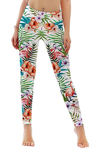 d538cc6b336c21 uideazone Damen Blumen Leggings Fintess Workout Sports Yoga Sportshose