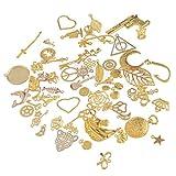 Souarts Vergoldet Farbe Anhänger Kettenanhänger für Halsketten Armband DIY 10 St