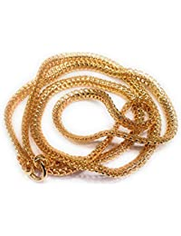 AFJ GOLD 1 Gram Micro Gold Plated Traditional Designer Fashion Jewellery Chain for Women & Girls