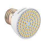 JIALUN- LED E27 72LED 7W 2835SMD 600-700Lm Warmweiß Cool White LED Scheinwerfer AC 220-240V 1 STÜCKE (Color : Warm White)