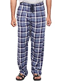 Twist Men's Brown Checked Cotton Pyjama Sleepwear Night Wear With Contrast & Free Shipping