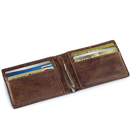 Natur Leder Geldscheinklammer Kreditkartenetui Visitenkartenetui Kartenetui Kartenmappe Kreditkartenhüllen Ausweisetui Börse Klip (Taschen Gucci Herren)