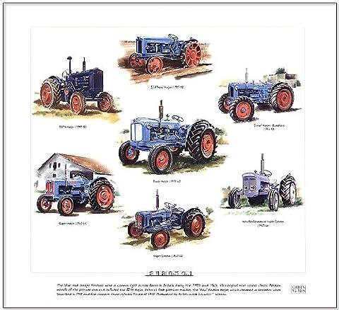Fine Art Print Fordson tracteurs --- majeur, Power, Dexta majeur,