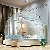 Mongolische moskitonetz,Faltbare schlafsaal bett baldachin tragbare folding moskitonetz zelt freestand bett 1 2 Öffnungen-C Twinch1