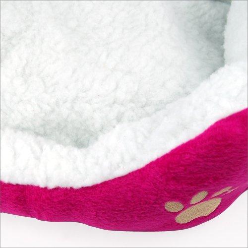 Yahee365 Hundebett Hundekissen Hundesofa Katzenbett Tierbett in 3 Farben (Rose) - 5