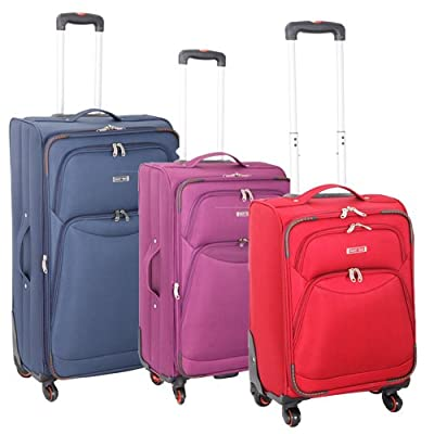 Super Lightweight 4 Wheel Spinner Luggage Suitcase Travel Trolley Cases