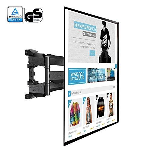 SP500,Schwenkbar Neigbar TV Wandhalterung für 32-52 Zoll Fernseher max. 36.4kg(destructive test 109.2kg)schwarz