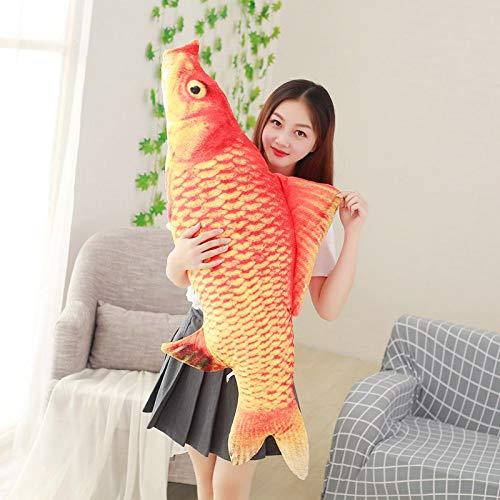 qingbaobao Glücklicher Roter Karpfen Plüschtiere, Weiche Kuscheltier Koi Fisch Puppen, Kreative Kissen, Für Katzen Hunde, Kinder (40Cm)