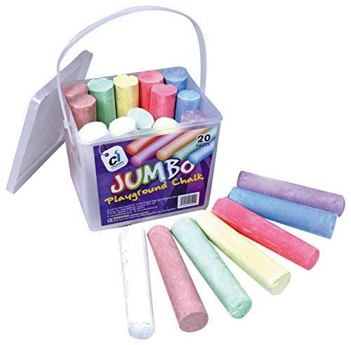 ci-cs-1700-colour-jumbo-playground-chalk-in-a-plastic-container-with-handle-20-piece