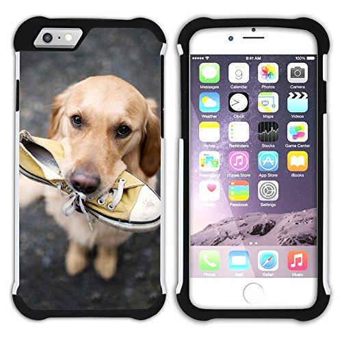 Graphic4You Labradorhund Labrador Retriever Hund Hündchen Tier Hart + Weiche Kratzfeste Hülle Case Schale Tasche Schutzhülle für Apple iPhone 6 Plus / 6S Plus Design #13