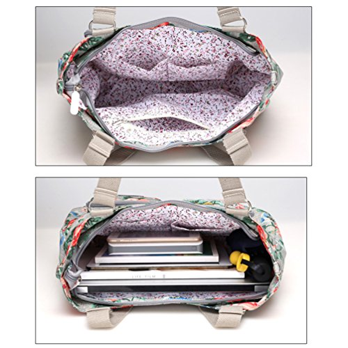 Vbiger Borsetta in nylon Borsa Tote Borsa Messenger stampata Borsa a tracolla di grande capacit¨¤ per donne (Colore 4) Colore 2