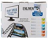Zebion Enliven Splay S-15.6 LED Backlit Computer Monitor (Black, 15 Inch)- Combo of 4
