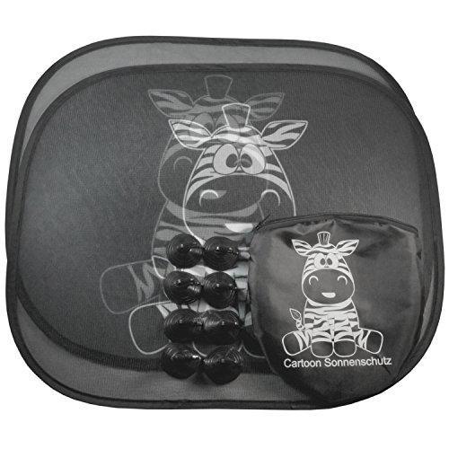 Voitures Cartoon solaire Zebra pare-soleil pour blindage côté aspiration attaches enfants et bébés Ensemble de 2
