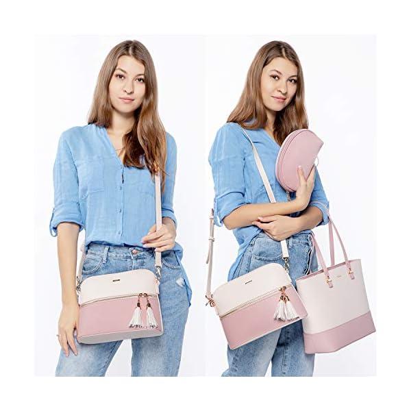 516DegIafxL. SS600  - Bolso para mujer Señoras Shopper Hobo Bolso de hombro Monedero Bolso grande para mujer Tote para oficina Escuela Compras…
