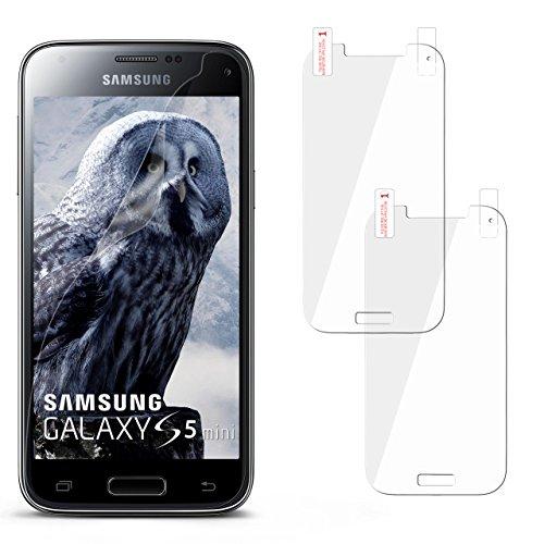 Protector Glass Galaxy S5 Screen (2x Samsung Galaxy S5 Mini Schutzfolie Klar Display Schutz [Crystal-Clear] Screen protector Bildschirm Handy-Folie Dünn Displayschutz-Folie für Samsung Galaxy S5 Mini Displayfolie)