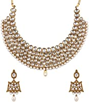 Zaveri Pearls Jewellery Set for Women (Golden)(ZPFK4296)