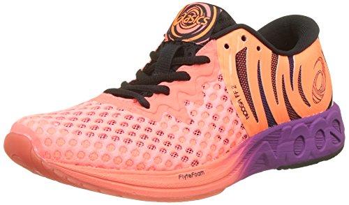 Asics Noosa Ff 2, Zapatillas de Entrenamiento para Mujer, Naranja (Flash CoralBlackShocking Orange 0690), 39.5 EU