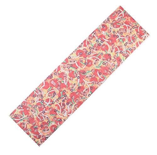 Skateboard Bänder Aufkleber, (Skateboard Grip Band Blatt Blase Freie Scrub Aufkleber abriebfeste Anti-Rutsch,Pizza #96)