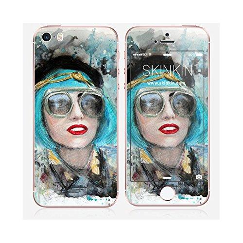 Coque iPhone 6 Plus et 6S Plus de chez Skinkin - Design original : Lady gaga glasses par Denise Esposito Skin iPhone SE
