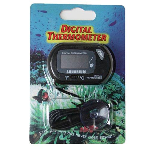 1 Digital Thermometer für Terrarium und Aquarium mit bereits eingebauter Batterie von SchwabMarken