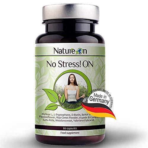 NatureOn Anti Stress- und Angstabbau Nahrungsergänzungsmittel - Bleiben Sie Ruhig und steigern Sie...