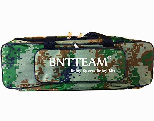 bntteam 20 Zoll 420D Oxford Stoff Tragbare Angeltasche, wasserdicht und langlebig 2-Schicht-Design, plus zwei Außentaschen Tasche zum Angeln / Camping / Wandern